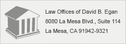 Contact The Law Offices of David. B. Egan
